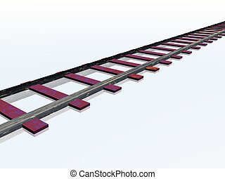 Rail - Computer generated 3D illustration with a Rail