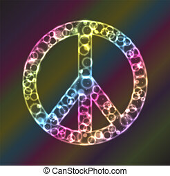 Peace Sign Plasma - Plasma rings, circles, and glows inside...