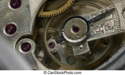 Clockwork - gear wheels of a mechanical clockwork