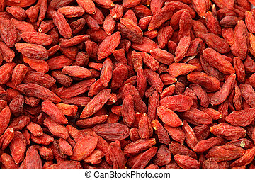 Dried wolfberry fruit background