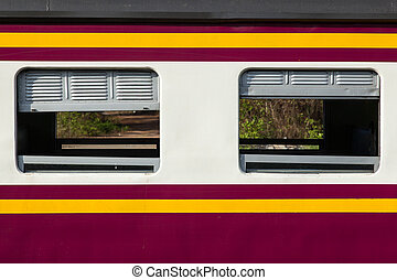 Train cabin. - cabin of the train as the train speed limit...
