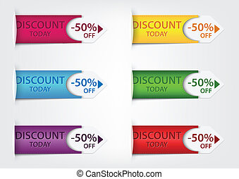 colorful price tags - Vector Illustration of colorful price...