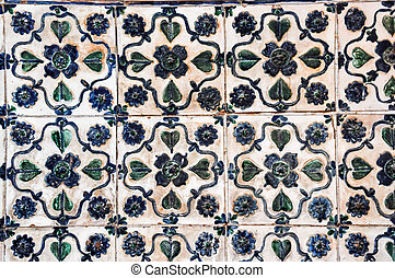 Decoration vintage stove tiles - Antique ceramic stove tiles...
