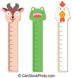 cute bumper children meter wallvector