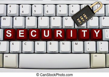 Online Security - Computer keyboard keys with word security...
