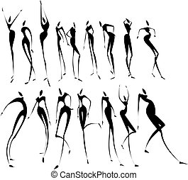 Abstract woman figures