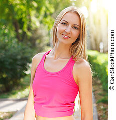 Sport fitness young woman