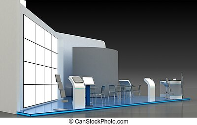 Exhibition Stand Kiosk Interior Exterior
