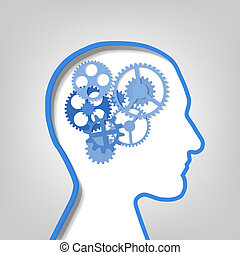 gears in the contour human head