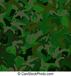 Camoflage Background - Dark Green camoflage background at 25...