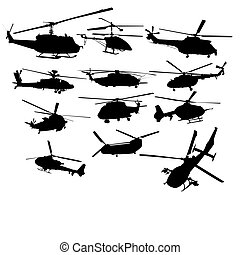 Set of helicopter