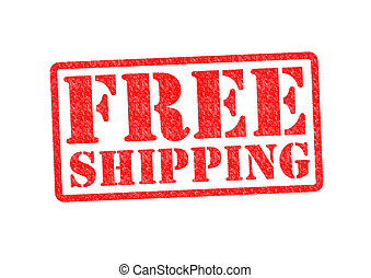 FREE SHIPPING Rubber Stamp over a white background.