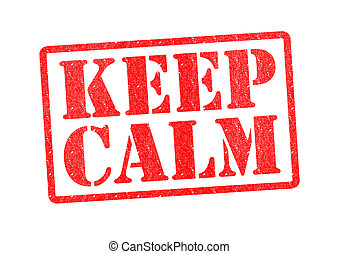 KEEP CALM Rubber Stamp over a white background.