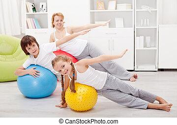 gosses, exercisme, leur, mère