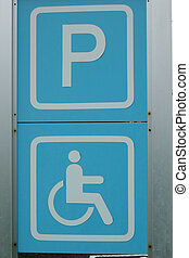 Signs Handicap Parking symbol