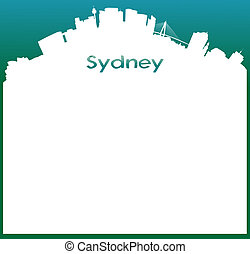Vector background with Skyline of Sydney - vector background...