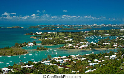 Bermuda Great Sound - A view of the Great Sound in Bermuda