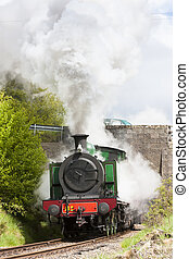 steam locomotive, Strathspey Railway, Highlands, Scotland