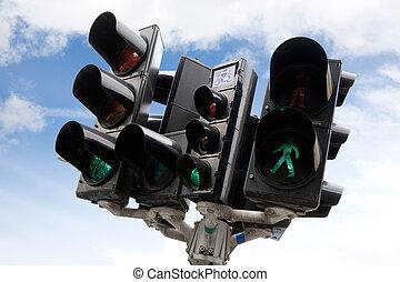 Copenhagen Traffic Light - A bike, car and pedestrian...