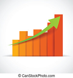 Business Bargraph - illustration of Infograph Business...