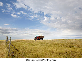 Water Truck - A water truck on the prairie