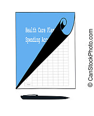 Health Care Spending Account - Tablet and pen ready...