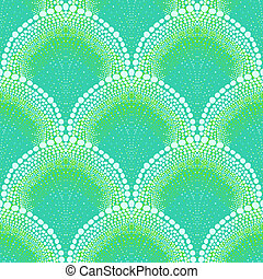 Bold pattern in art deco style in aqua blue - Texture for...