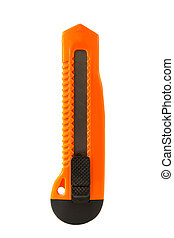 Utility Knife - Utility knife isolated on a white...