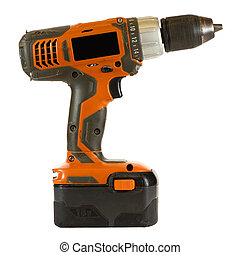 Electric Screwdriver - Electric screwdriver isolated on a...