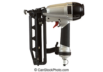 Nail Gun - Nail gun isolated on a white background