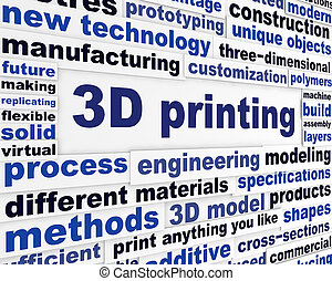 3d printing technical word clouds. New product making...
