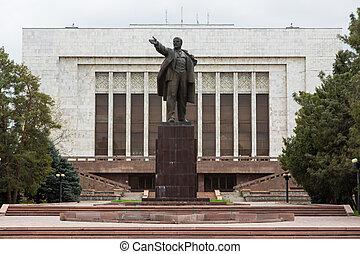 estatua, Lenin, Kyrgyzstan, Bishkek