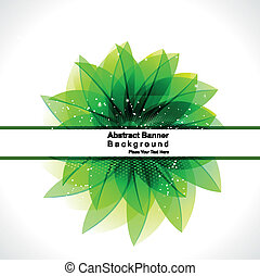 abstract glossy green leaf background vector illustration