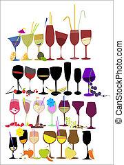 Set of glasses for cocktails