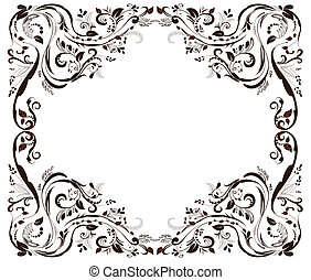 Vintage foliar frame
