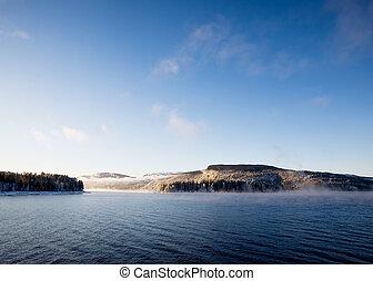 Winter Fjord Landscape