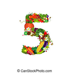 Fresh vegetables and fruits number 5