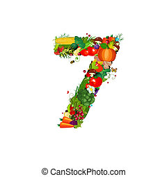 Fresh vegetables and fruits number 7