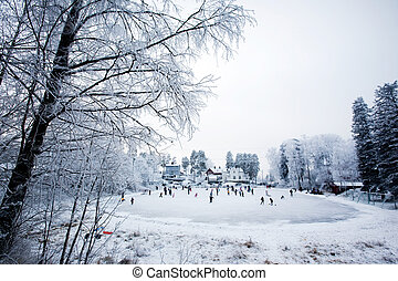 invierno, diversión