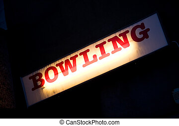 Bowling sign - A retro bowling sign for a local bowling...
