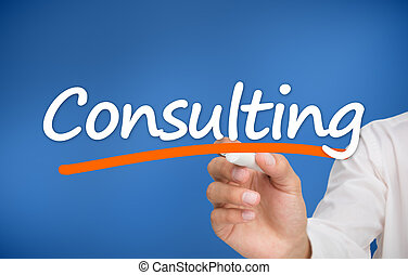Woman writing consulting