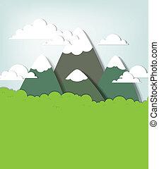 Mountain landscape. Vector applique - Mountain landscape....