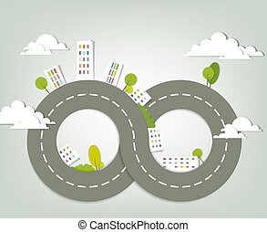 creative urban landscape vector illustration