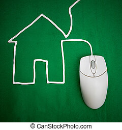 Housing - Online - A housing concept with computer mouse and...
