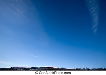 Deep Blue Sky Background - A deep blue sky background with...