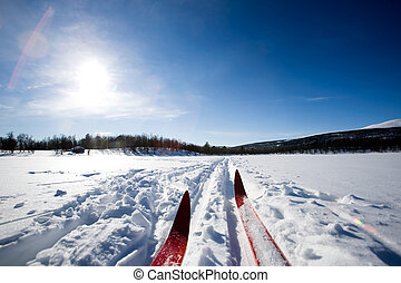 Cross Country Skiing - A cross country ski detail