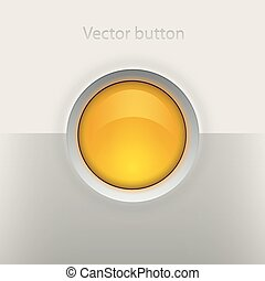 Glossy empty button Interface vector element