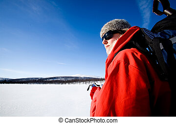 Winter Adventure Ski - A female on a winter adventure trip...