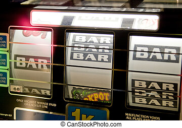 Slot Machine Detail - A detail image of a slot machine with...
