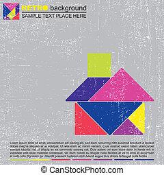 Tangram house - vector illustration